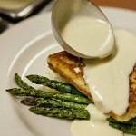 Parmesan Crusted Halibut with Lemon Thyme Buttercream Sauce