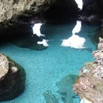 Snorkeling/swimming cave in front of the Resort accessible only at Low Tide!