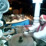 Cultural evening organiced by our company on terrace