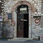 The workshop entrance
