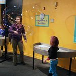Fun with bubbles in the Bubble-ology room