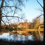 Toftaholm Manor in the sunset from the lake side. MAR14