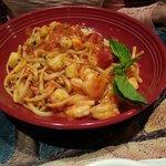 Shrimp and scallops Alla vodka