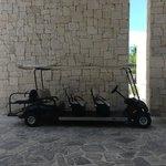 Golf cart to take you around..plenty of carts around
