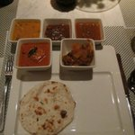 The main courses were spicy and varied, all excellent