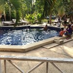 A family enjoying swimming pool Apr'14