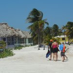 A group walking by Cabanas