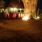Masai dance at dinner