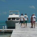 Half Mon Caye dock