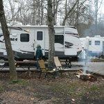 campfire area at individual campsite