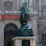 Prince Eugene Statue in front of the Austrian National Library
