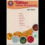 TAMLENI INDIAN RESTAURANT MENU