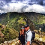 Near the top of Huayna Picchu!