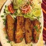 Eggplant schnitzel dish