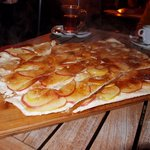 Apple Tarte post flambe...bevvies in background