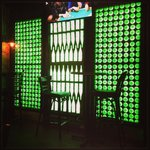 Beer bottle wall!