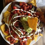Their massive veggie nachos dish