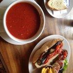 Veggie asados sandwich