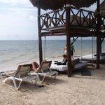 Cabana/beach area