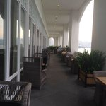 Outdoor seating of Planters lounge