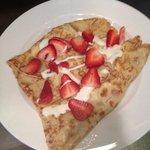 Yum strawberry crepes
