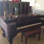 Beautiful piano in dining room of restaurant