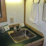 Kitchenette & bathroom sink