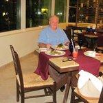 Enjoying fine dining in Siena, the Italian restaurant