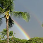 Awesome rainbow we saw from our lanai!
