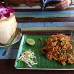 Pad Thai and Coconut Juice