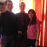The very helpful and friendly staff in kilt