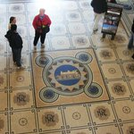 Internal tiled floor