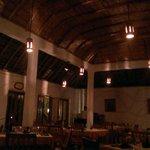 Restaurant in evening