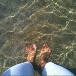 clear water from mangrove place