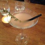 Rhubarb & Vanilla martini
