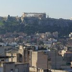 View of the Acropolis from hotel room