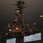 Particolare del lampadario Hall