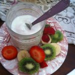 fromage blanc et fruits frais