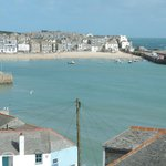 View over St. Ives from the window
