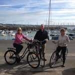 Setting off for a bike ride at the front of Harbour View B&B