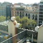 Vue sur la ville et les terrasses du 5ème étage