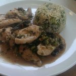 Chicken and Black Bean sauce with spiced egg fried rice