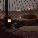 magic candle lit yurt