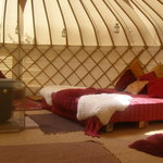 Interior of Bluebell Yurt