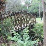 wooden bridge on Historic site
