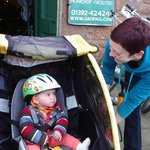 Range of accessories to hire for children, inc trailers and tag-alongs