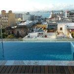 Infinity pool on rooftop terrace