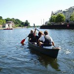 Enjoy a relaxing paddle along the calm canal waters