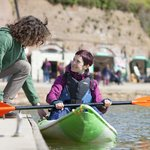 Canoes and kayaks available to hire