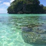 The beautiful crystal clear waters of Baling Hai beach
